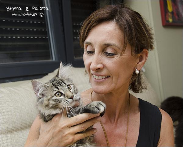 21 de Junio de 2014 Bryna será la más mimada de la casa, ya que es la primera beba peluda de Paloma a la que ya ha conquistado